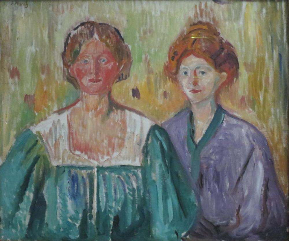 Edvard Munch Olga Ve Rosa Meissner, Kanvas Tablo, Edvard Munch, kanvas tablo, canvas print sales
