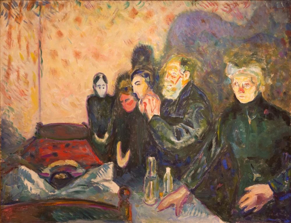 Edvard Munch Ölüm Anı, Kanvas Tablo, Edvard Munch, kanvas tablo, canvas print sales
