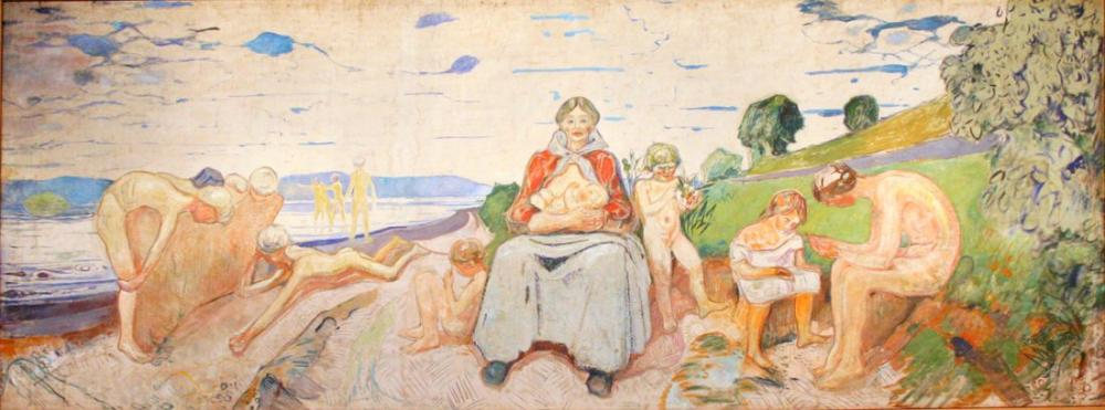 Edvard Munch Sahilde, Kanvas Tablo, Edvard Munch, kanvas tablo, canvas print sales