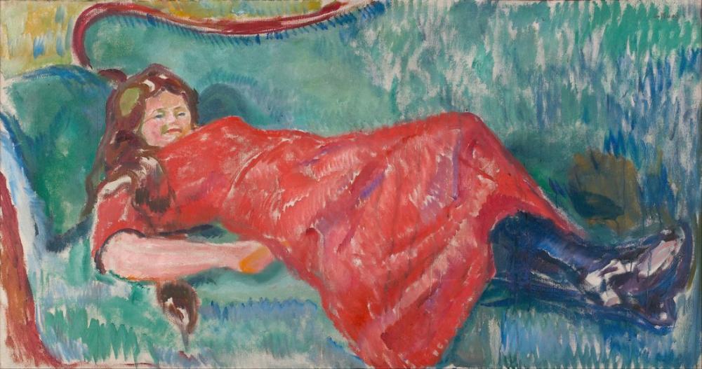 Edvard Munch On The Sofa, Canvas, Edvard Munch, kanvas tablo, canvas print sales
