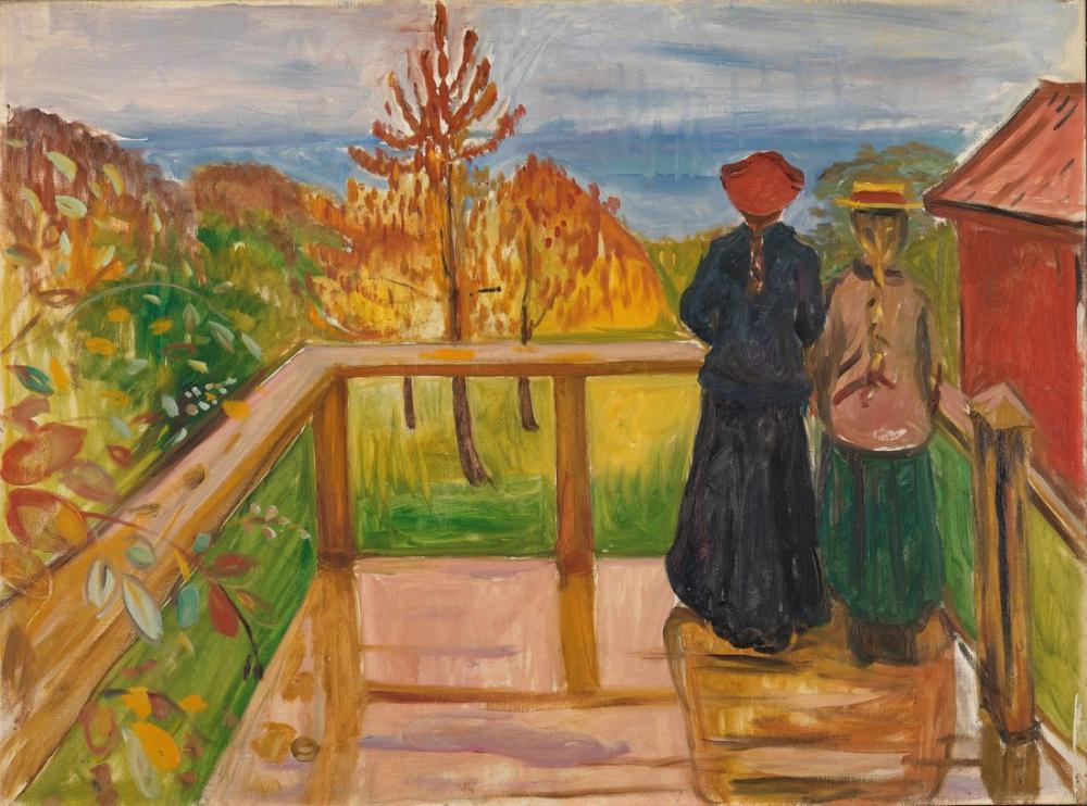 Edvard Munch Verandada, Kanvas Tablo, Edvard Munch, kanvas tablo, canvas print sales