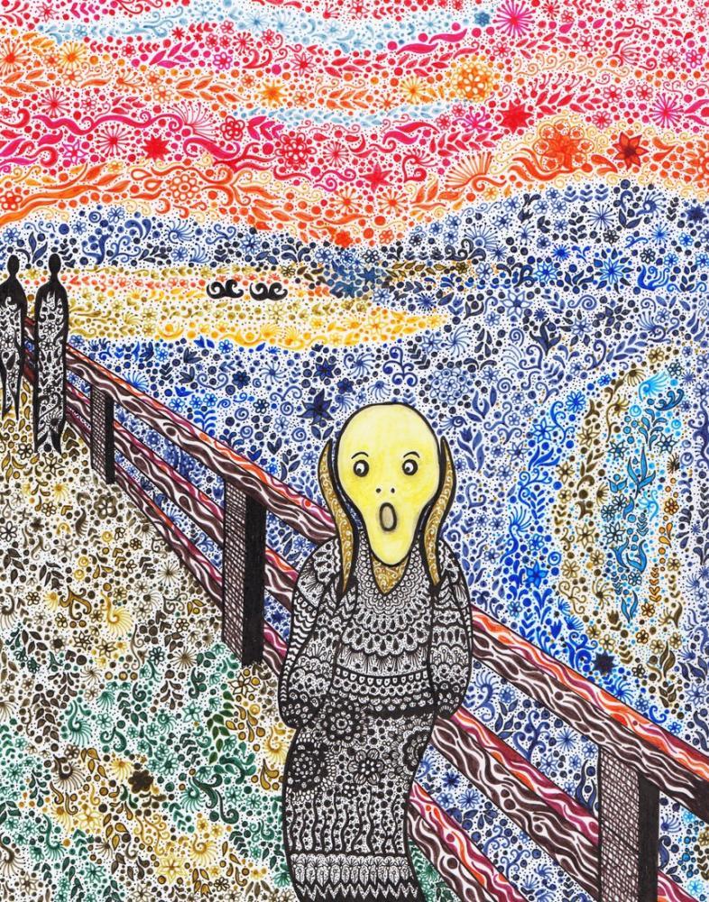 Edvard Munch Paraphrase Of The Scream, Figure, Edvard Munch, kanvas tablo, canvas print sales