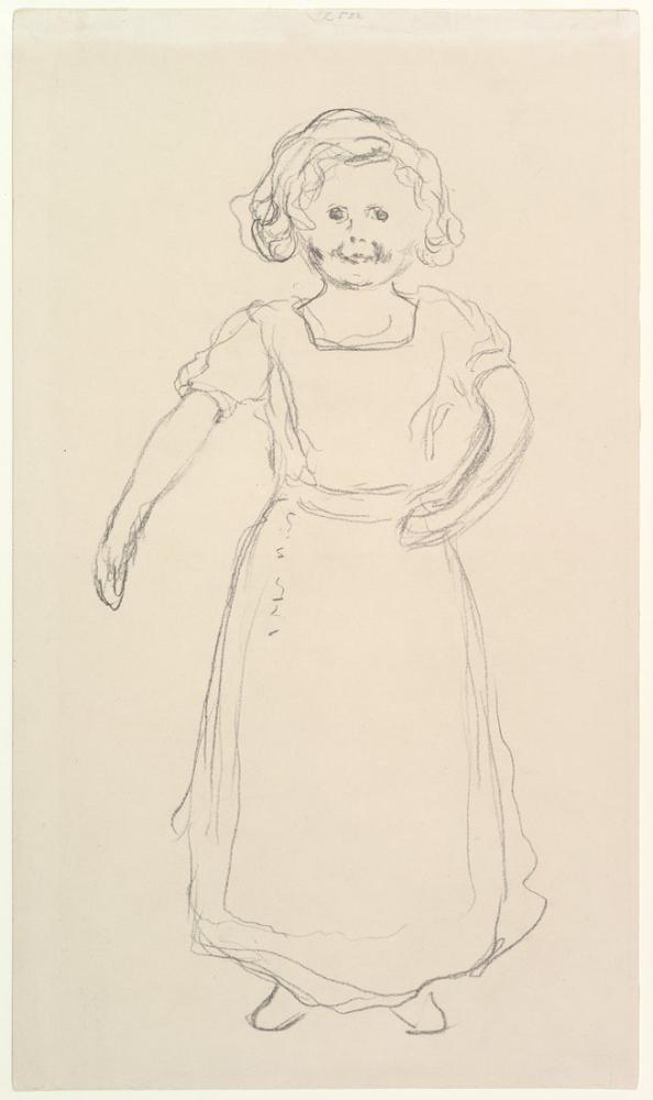 Edvard Munch Çalışan Küçük Norveçli Kız Pernille Kirke, Kanvas Tablo, Edvard Munch, kanvas tablo, canvas print sales
