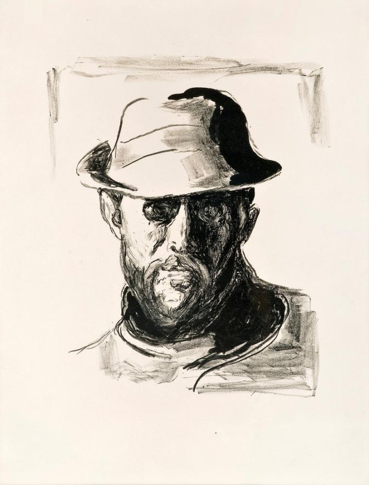 Edvard Munch Hans Jaeger Portresi III, Kanvas Tablo, Edvard Munch, kanvas tablo, canvas print sales