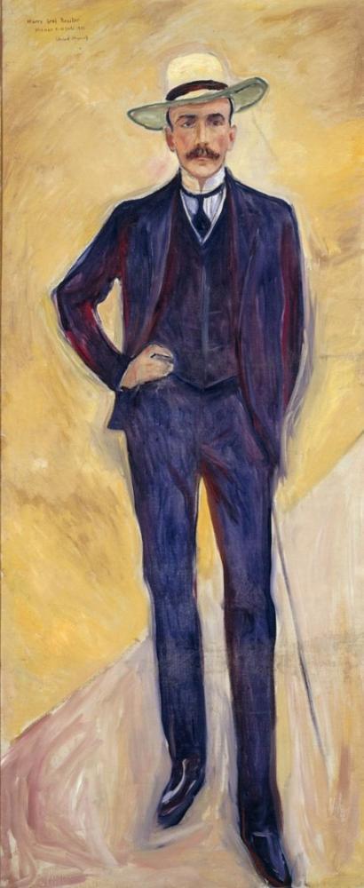 Edvard Munch Portrait Of Harry Graf Kessler, Canvas, Edvard Munch, kanvas tablo, canvas print sales