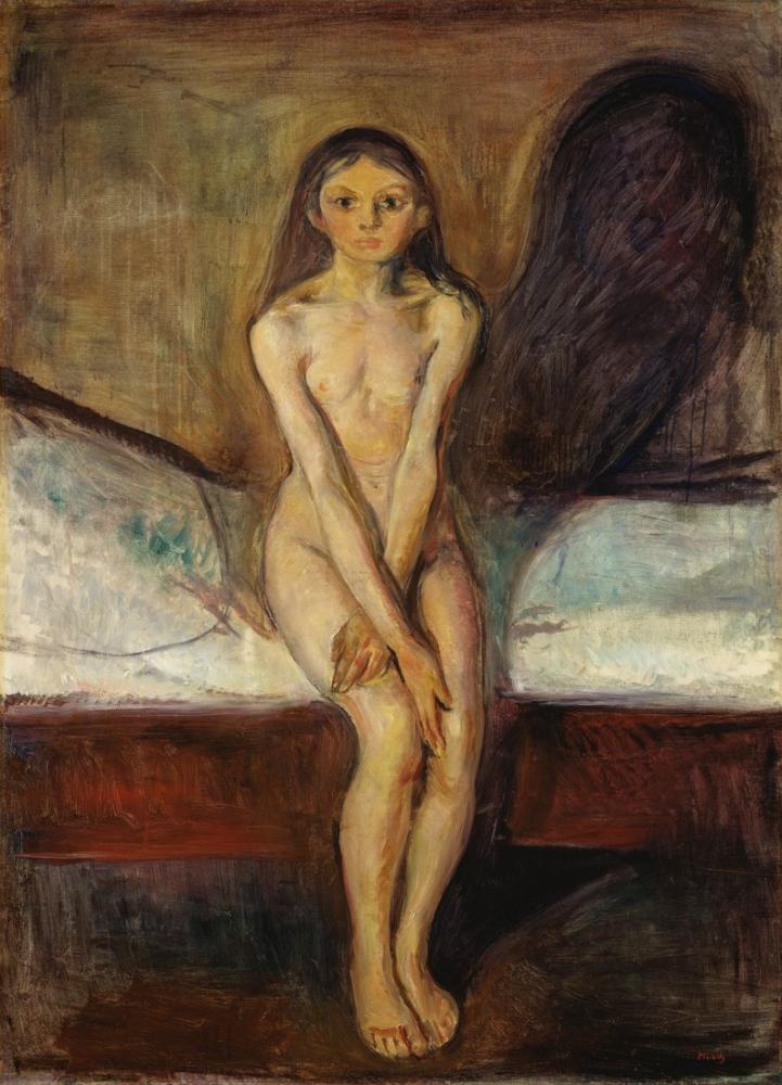 Edvard Munch Puberty, Kanvas Tablo, Edvard Munch, kanvas tablo, canvas print sales