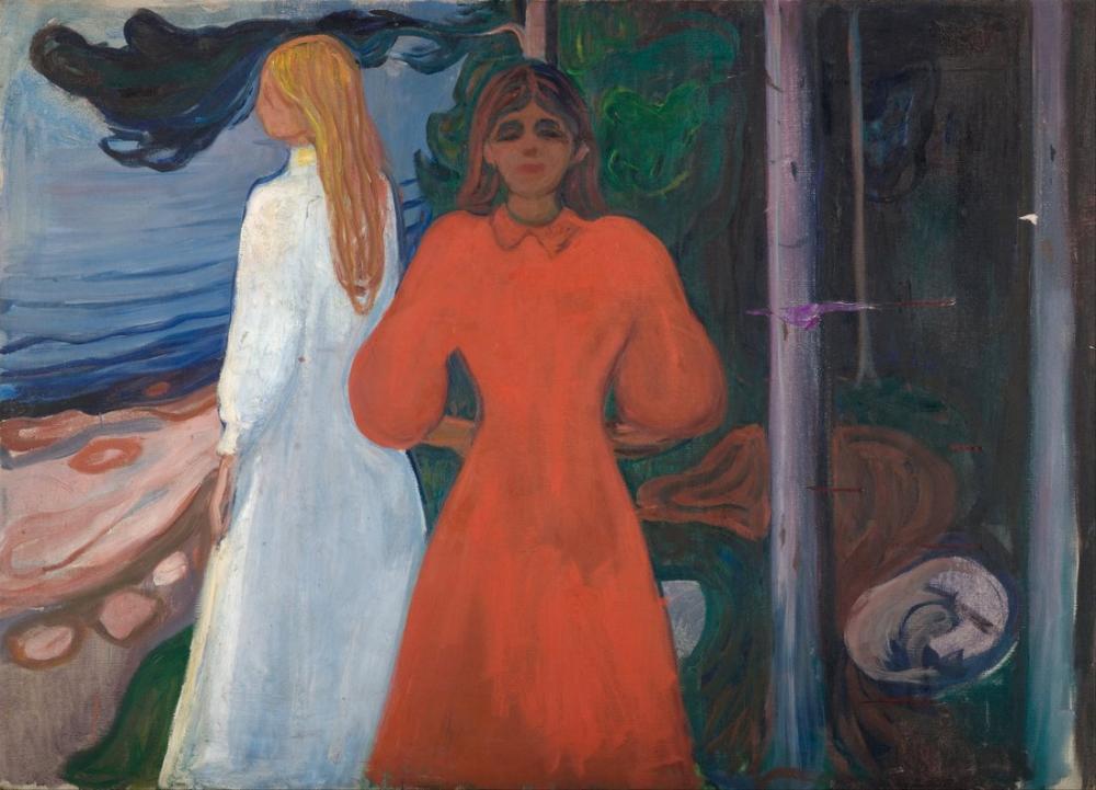 Edvard Munch Kırmızı Ve Beyaz, Kanvas Tablo, Edvard Munch, kanvas tablo, canvas print sales