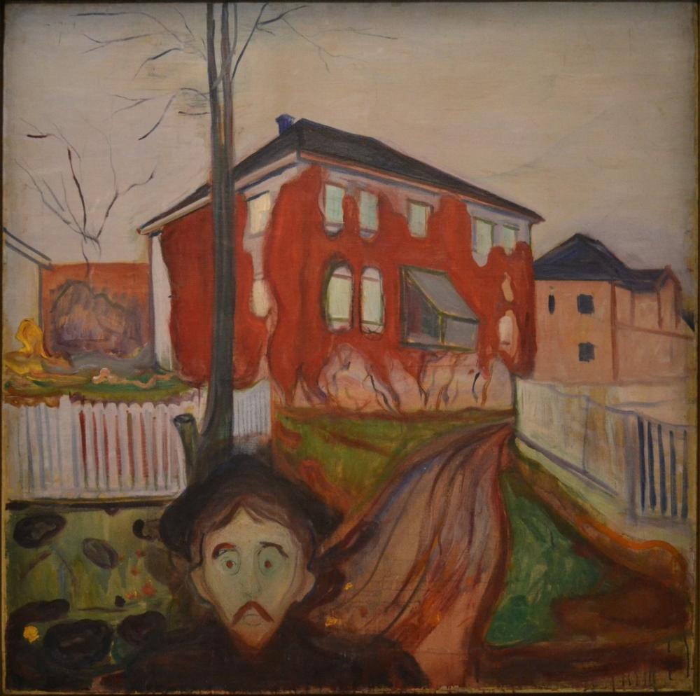 Edvard Munch Kırmızı Yaban Domuzu, Kanvas Tablo, Edvard Munch, kanvas tablo, canvas print sales