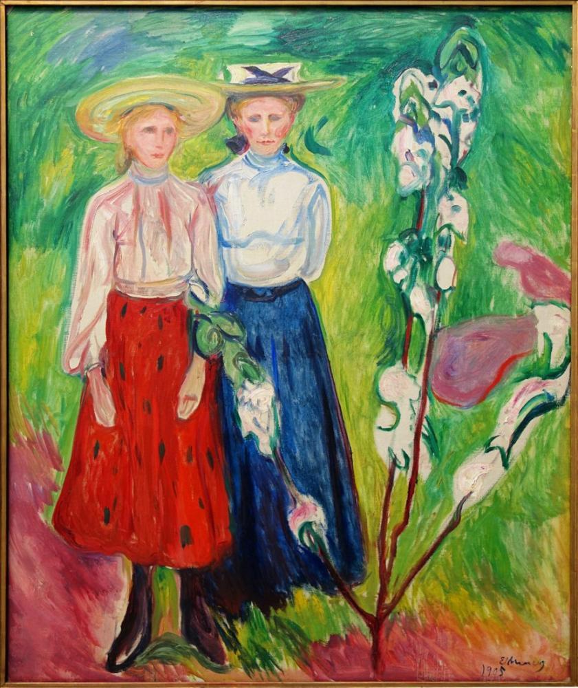 Edvard Munch Rotterdam Two Girls, Canvas, Edvard Munch, kanvas tablo, canvas print sales