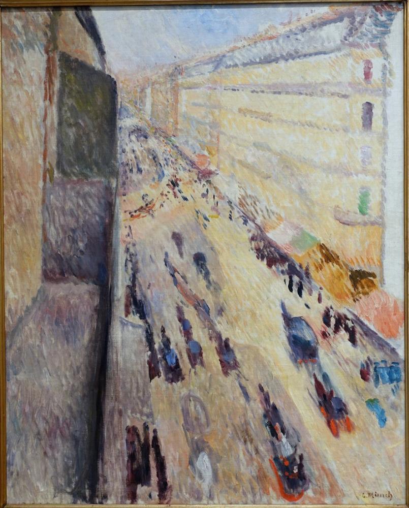 Edvard Munch Rivoli Caddesi, Kanvas Tablo, Edvard Munch, kanvas tablo, canvas print sales