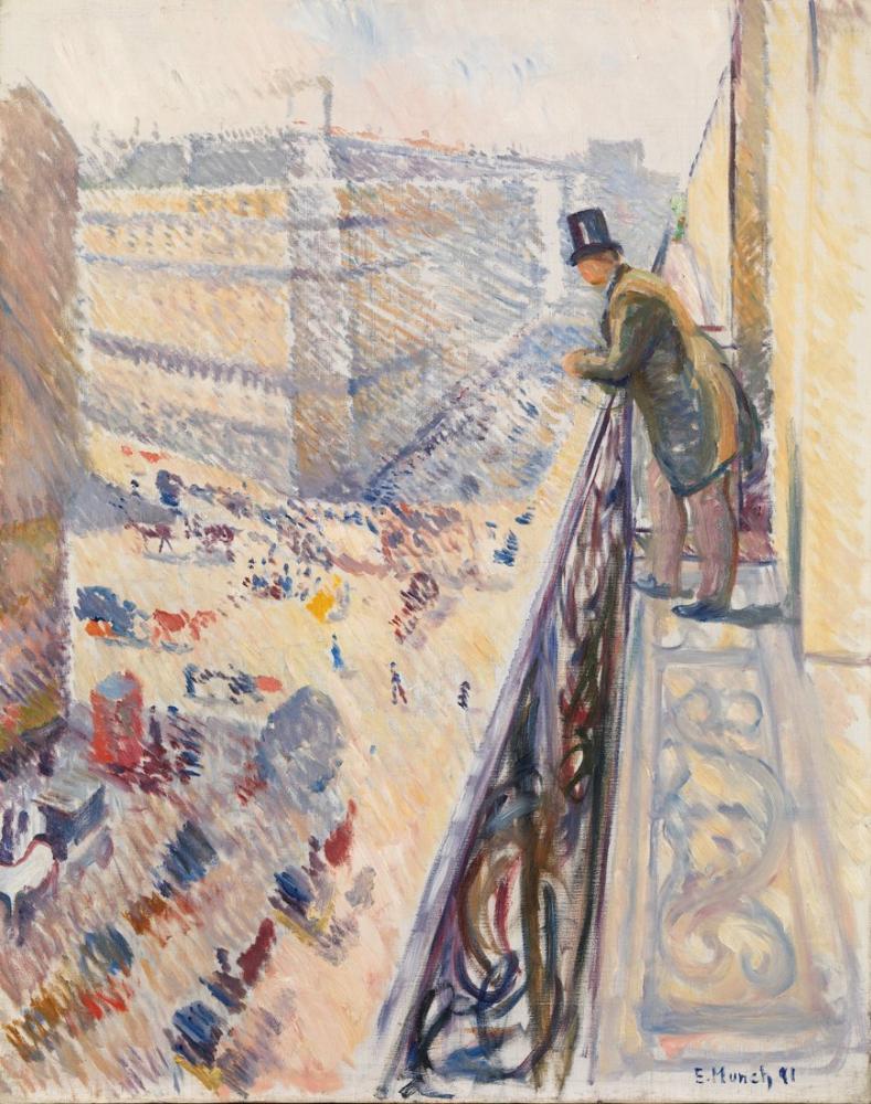 Edvard Munch Rue Lafayette, Kanvas Tablo, Edvard Munch, kanvas tablo, canvas print sales