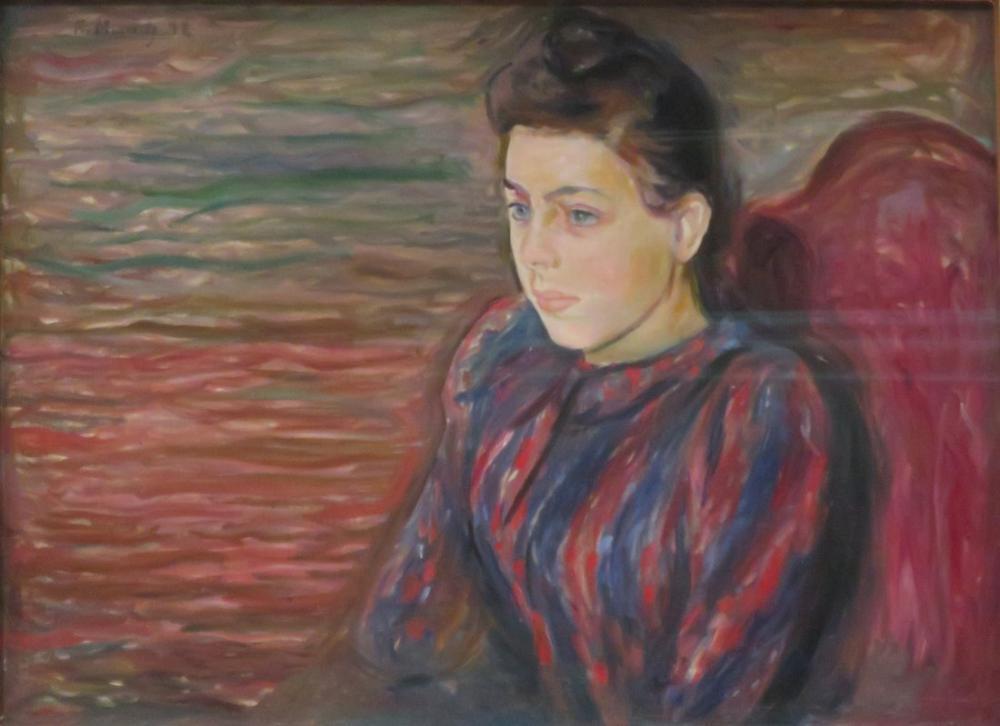 Edvard Munch Oturmuş Genç Kadın, Kanvas Tablo, Edvard Munch, kanvas tablo, canvas print sales