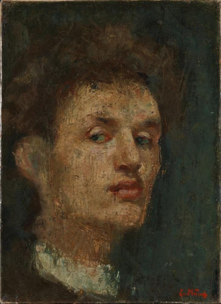 Edvard Munch Self Portrait, Canvas, Edvard Munch, kanvas tablo, canvas print sales