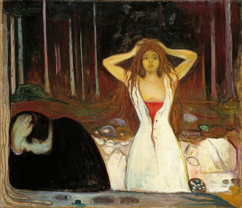 Edvard Munch Ashes, Canvas, Edvard Munch, kanvas tablo, canvas print sales