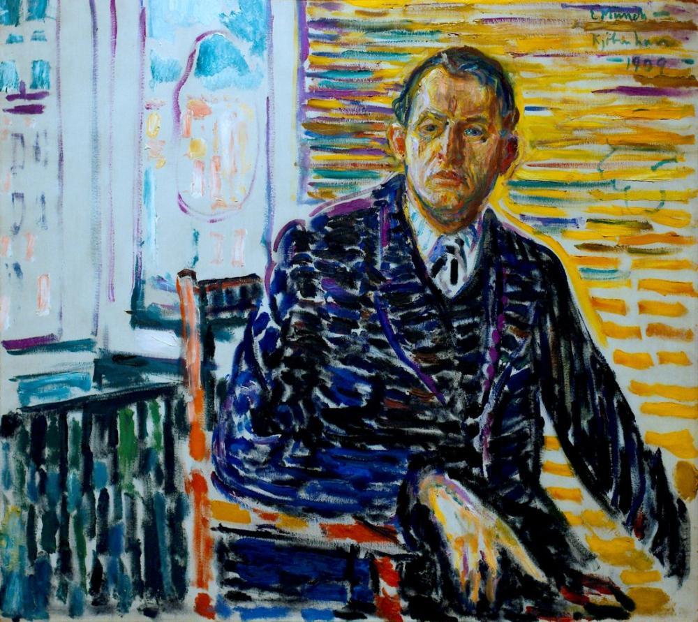 Edvard Munch Klinikte Otoportre, Kanvas Tablo, Edvard Munch, kanvas tablo, canvas print sales