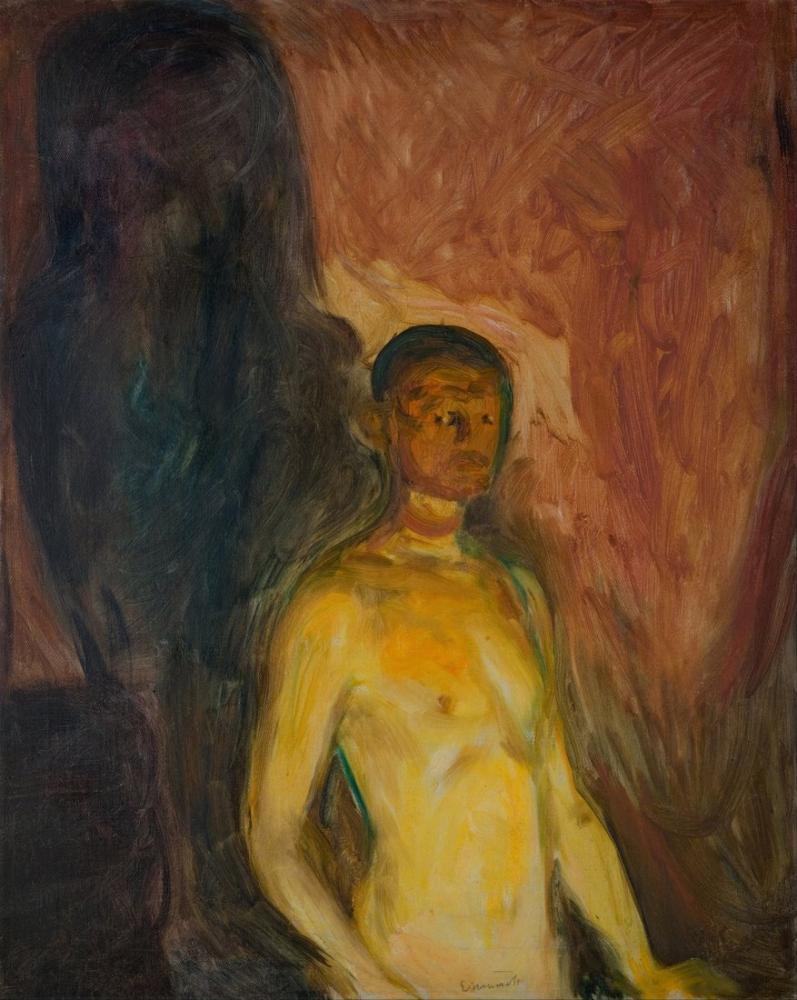 Edvard Munch Cehennemde Otoportre, Kanvas Tablo, Edvard Munch, kanvas tablo, canvas print sales