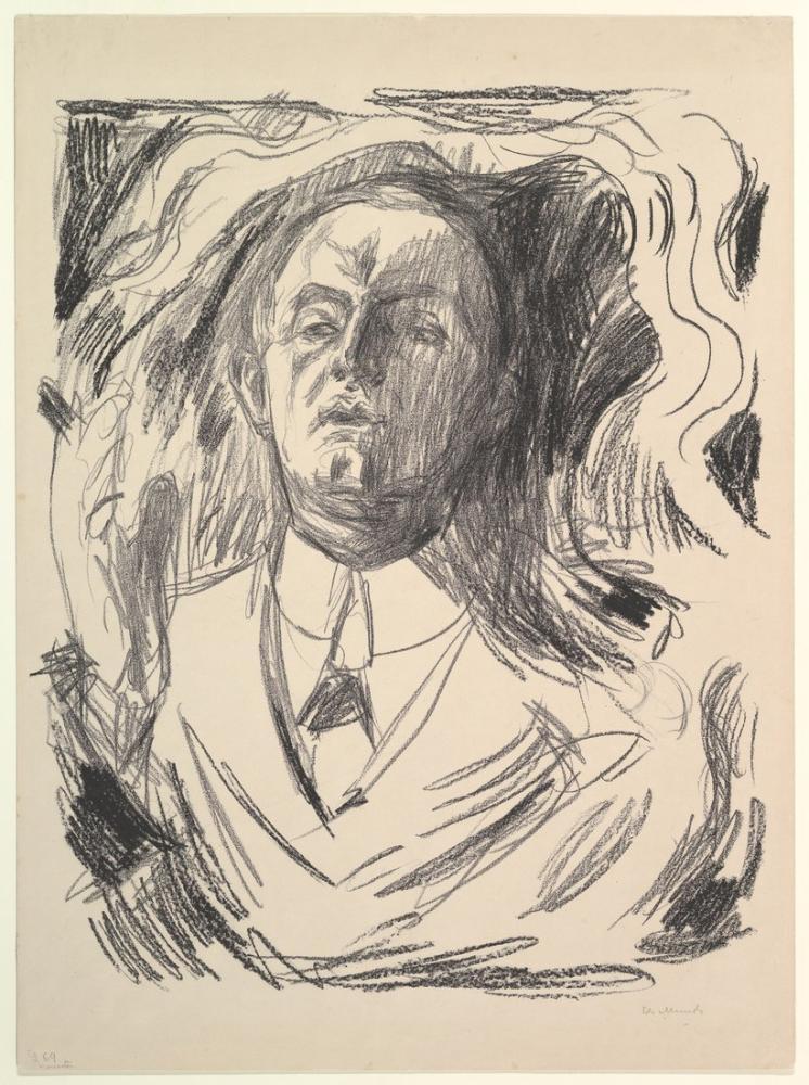 Edvard Munch Self Portrait With A Cigar, Canvas, Edvard Munch, kanvas tablo, canvas print sales