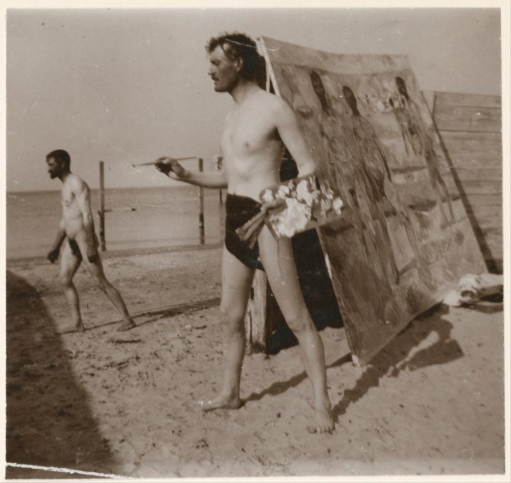 Edvard Munch At The Beach In Warnemünde, Canvas, Edvard Munch, kanvas tablo, canvas print sales