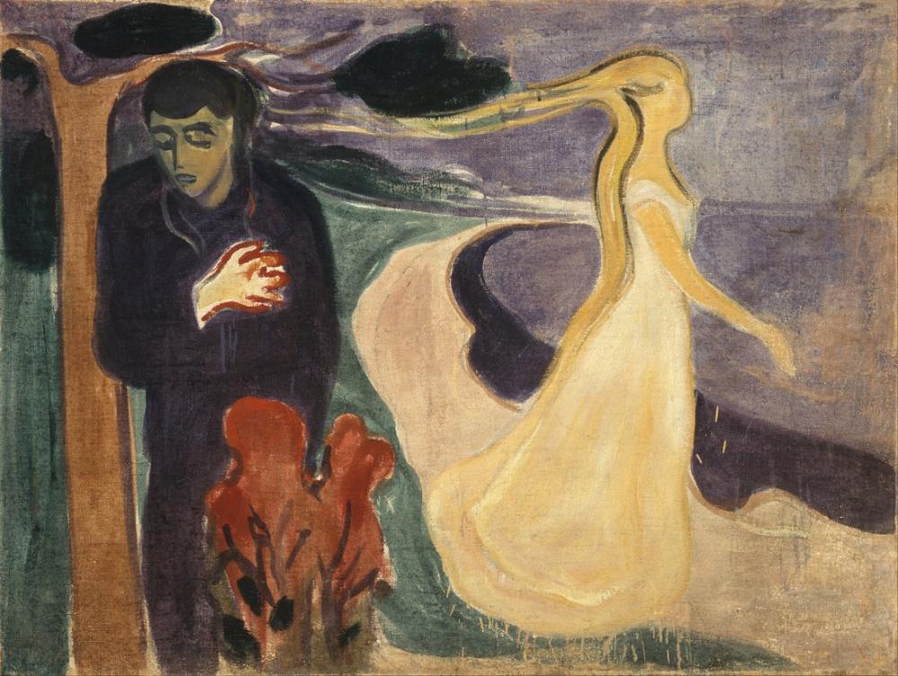 Edvard Munch Ayrılık, Kanvas Tablo, Edvard Munch, kanvas tablo, canvas print sales