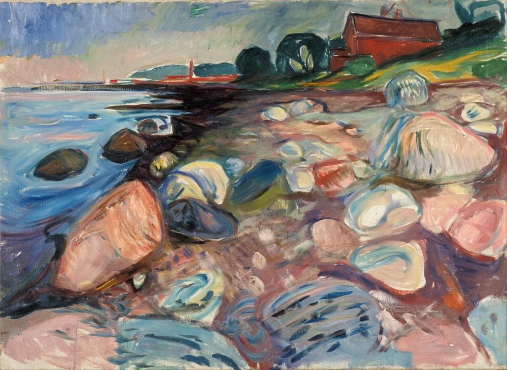 Edvard Munch Kıyı İle Kırmızı Ev, Kanvas Tablo, Edvard Munch, kanvas tablo, canvas print sales