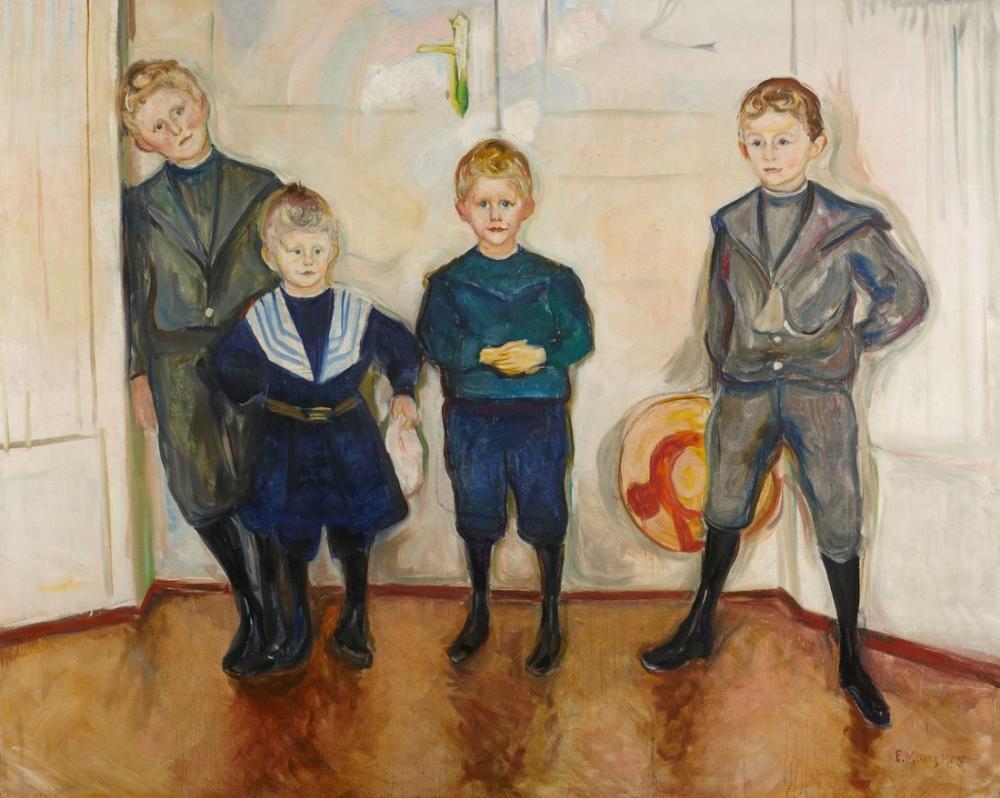 Edvard Munch Oğulları Veya Dr Linde, Kanvas Tablo, Edvard Munch, kanvas tablo, canvas print sales