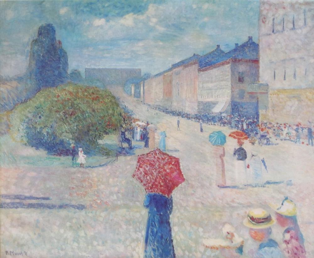 Edvard Munch Bahar Johann Karl Strasse, Kanvas Tablo, Edvard Munch, kanvas tablo, canvas print sales