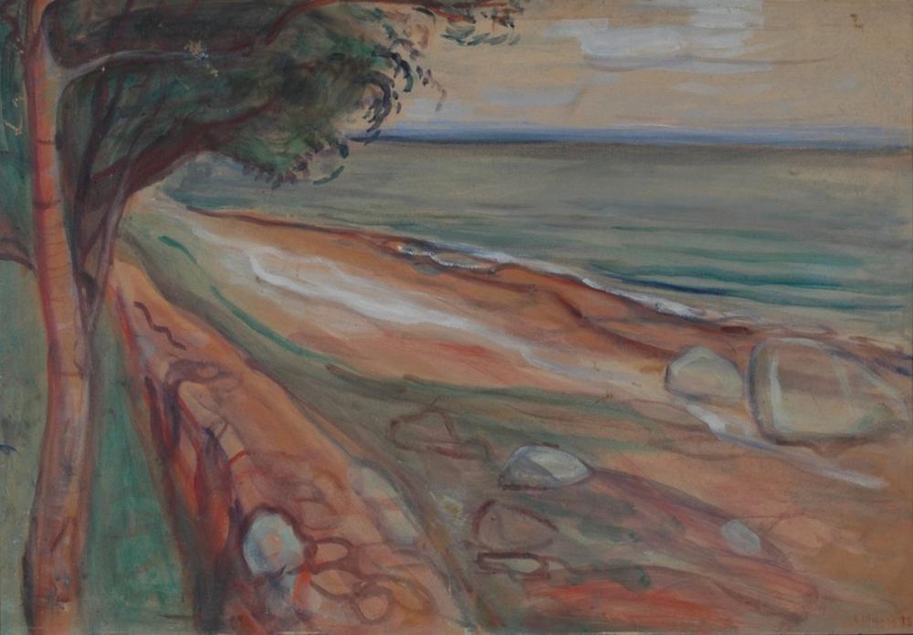 Edvard Munch Plaj Stavanger Sanat, Kanvas Tablo, Edvard Munch, kanvas tablo, canvas print sales