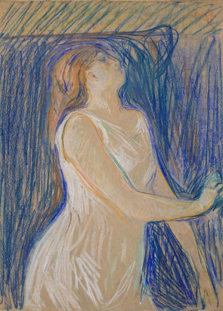 Edvard Munch Study Of A Model, Canvas, Edvard Munch, kanvas tablo, canvas print sales