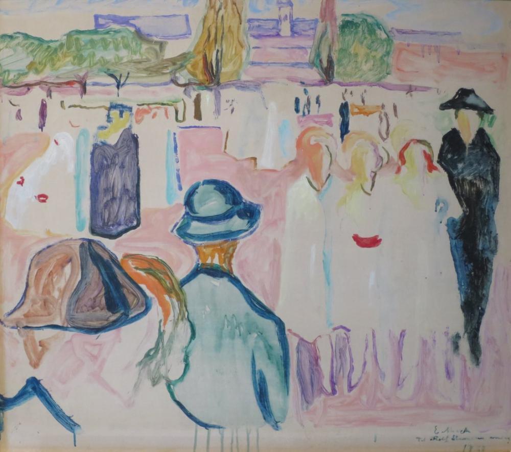 Edvard Munch Summer On Karl Johan Street Oslo, Canvas, Edvard Munch, kanvas tablo, canvas print sales