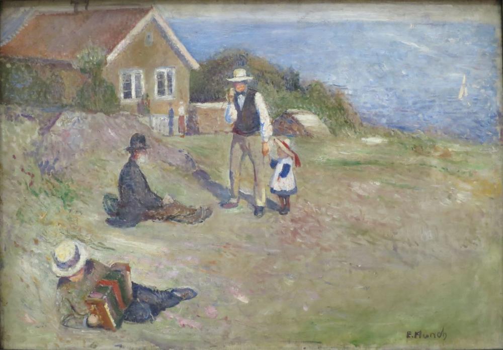 Edvard Munch Pazar Asgardstrand, Kanvas Tablo, Edvard Munch, kanvas tablo, canvas print sales
