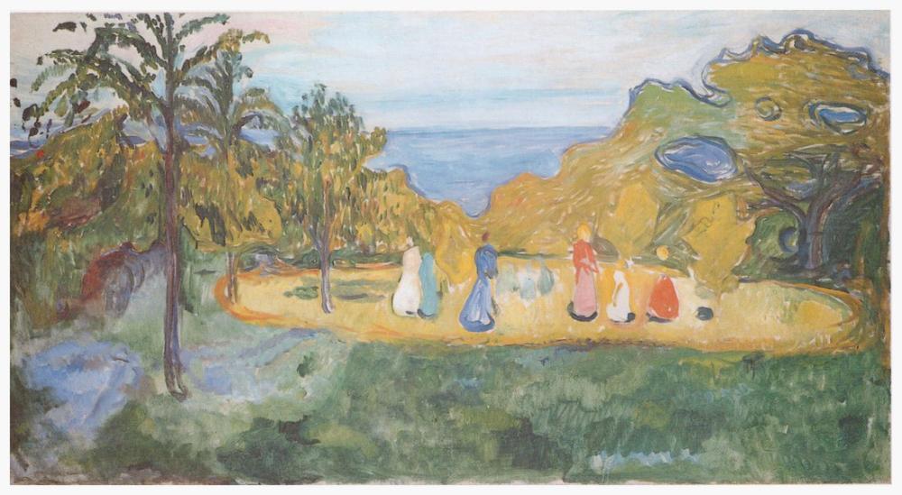 Edvard Munch Güneş Işığı Linde Frieze, Kanvas Tablo, Edvard Munch, kanvas tablo, canvas print sales