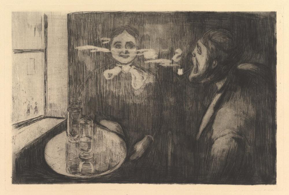 Edvard Munch Head To Head, Canvas, Edvard Munch, kanvas tablo, canvas print sales