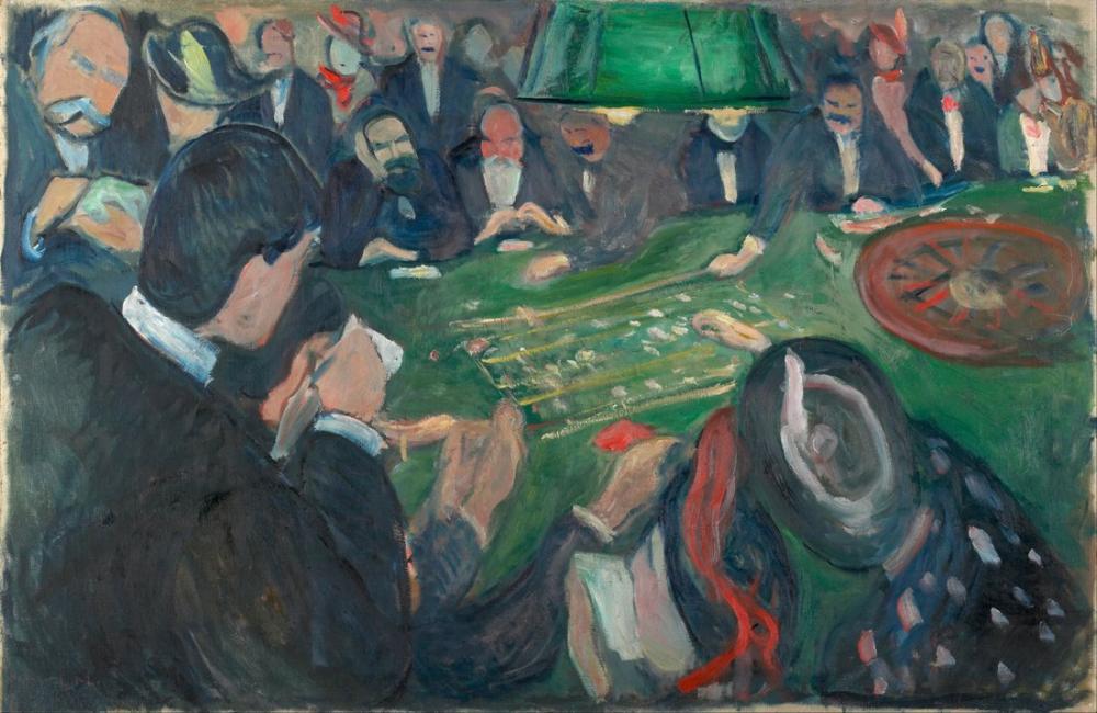 Edvard Munch Rulet Masasında Monte Carlo, Kanvas Tablo, Edvard Munch, kanvas tablo, canvas print sales