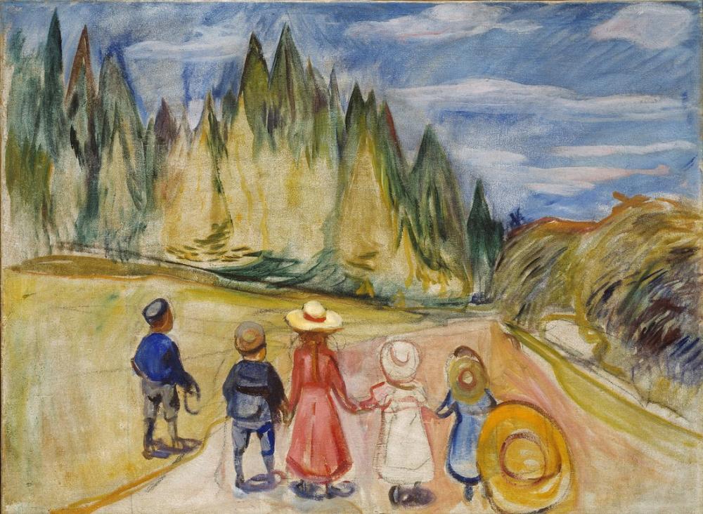 Edvard Munch The Fairytale Fores, Canvas, Edvard Munch, kanvas tablo, canvas print sales