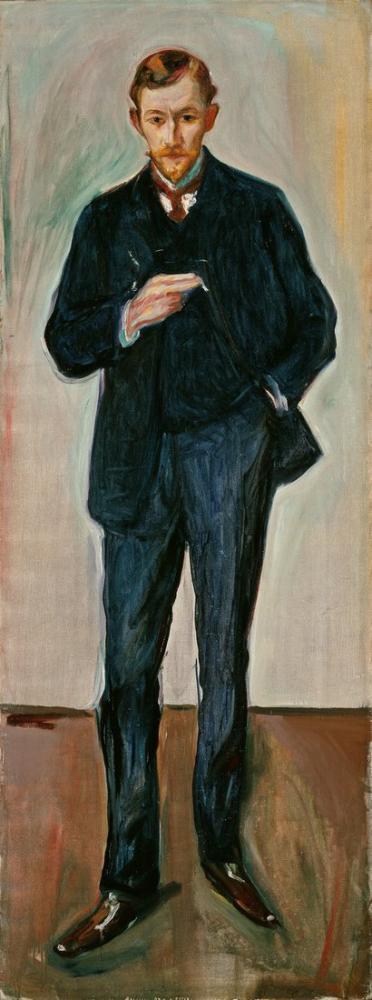 Edvard Munch The Frenchman Marcel Archinard, Canvas, Edvard Munch, kanvas tablo, canvas print sales