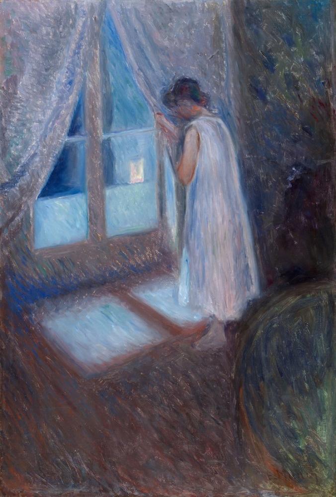 Edvard Munch Pencerenin Yanındaki Kız, Kanvas Tablo, Edvard Munch, kanvas tablo, canvas print sales