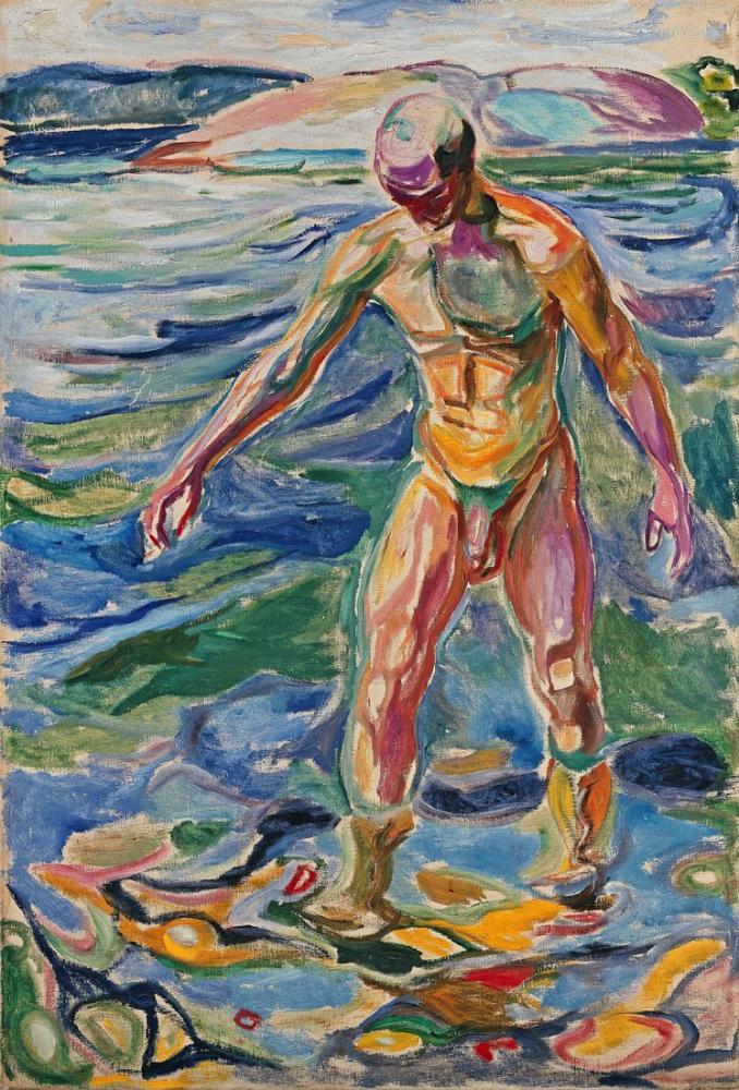 Edvard Munch Banyo Yapan Adam, Kanvas Tablo, Edvard Munch, kanvas tablo, canvas print sales