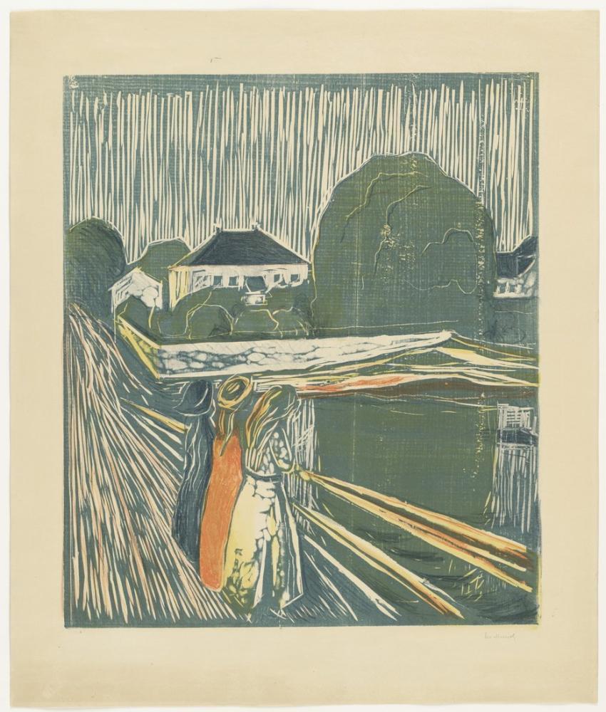 Edvard Munch The Girls On The Bridge, Canvas, Edvard Munch, kanvas tablo, canvas print sales