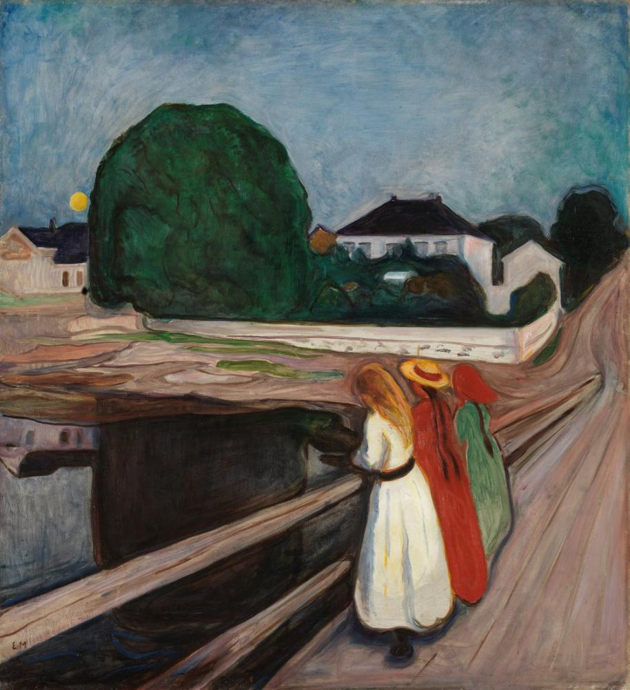 Edvard Munch The Girls On The Pier, Canvas, Edvard Munch, kanvas tablo, canvas print sales