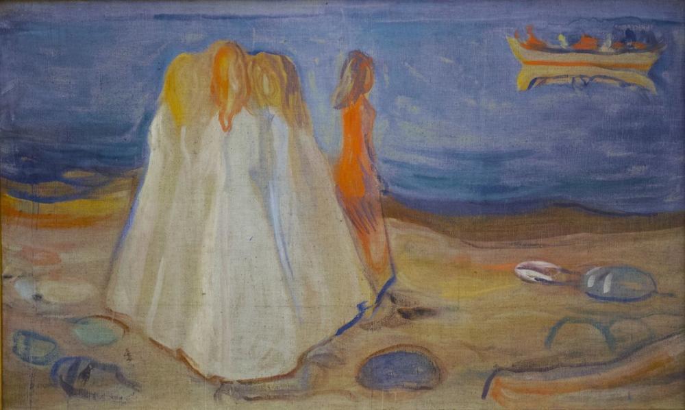 Edvard Munch Kıyıda Kızlar, Kanvas Tablo, Edvard Munch, kanvas tablo, canvas print sales
