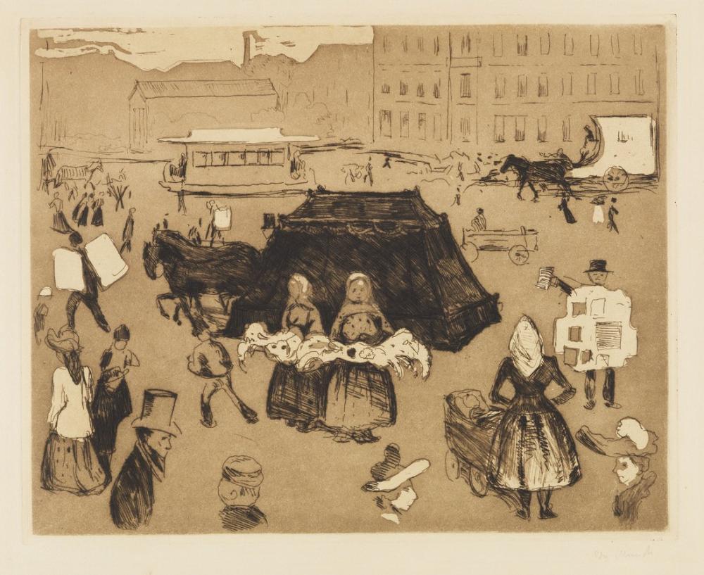 Edvard Munch The Hearse Potsdamer Platz, Canvas, Edvard Munch, kanvas tablo, canvas print sales