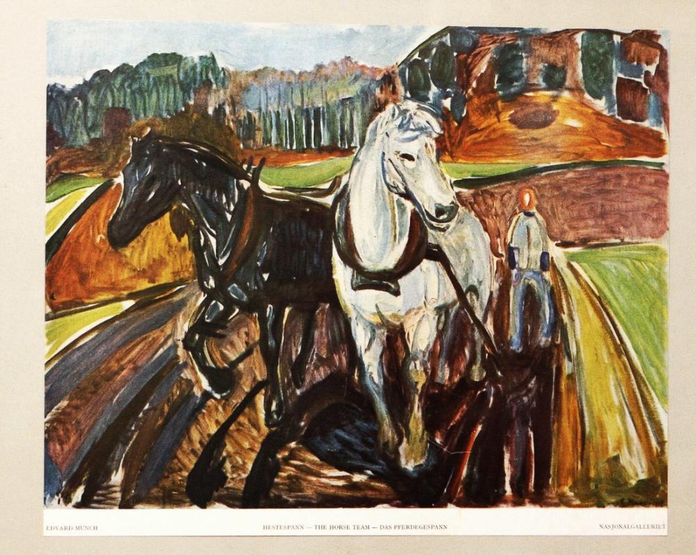 Edvard Munch The Horse Team, Canvas, Edvard Munch, kanvas tablo, canvas print sales