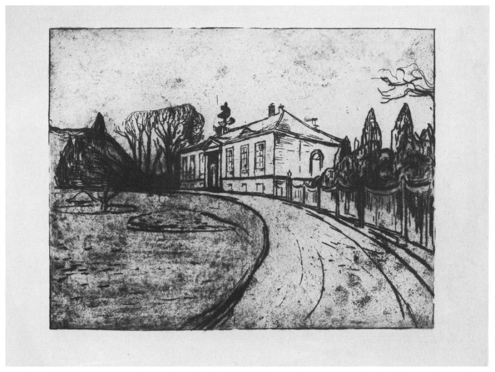 Edvard Munch The House Dr Lindes, Canvas, Edvard Munch, kanvas tablo, canvas print sales