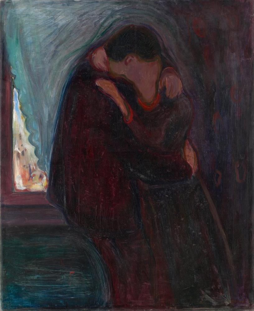 Edvard Munch Öpücük, Kanvas Tablo, Edvard Munch, kanvas tablo, canvas print sales