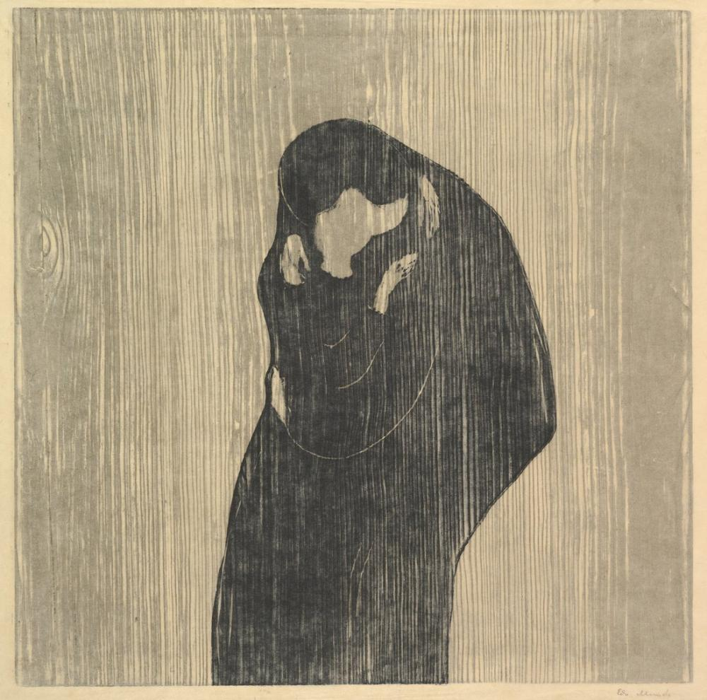 Edvard Munch Öpücük IV, Kanvas Tablo, Edvard Munch, kanvas tablo, canvas print sales