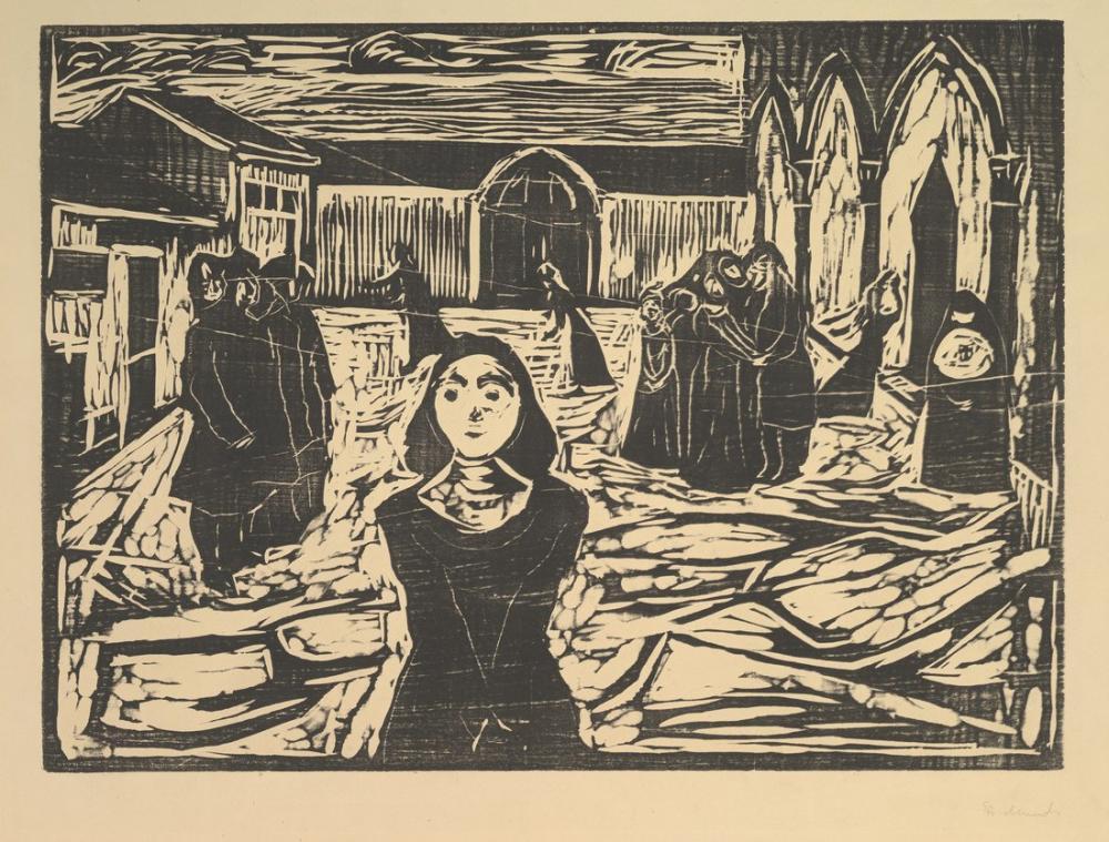 Edvard Munch Yol Gösterici Son Saat, Kanvas Tablo, Edvard Munch, kanvas tablo, canvas print sales