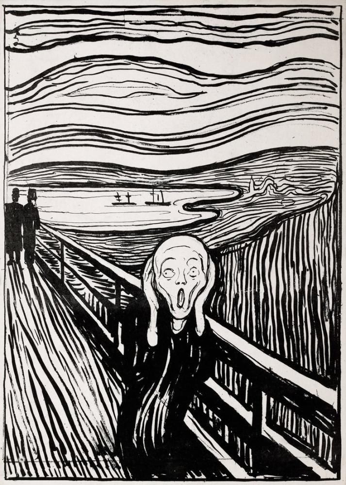 Edvard Munch Çığlık II, Kanvas Tablo, Edvard Munch, kanvas tablo, canvas print sales