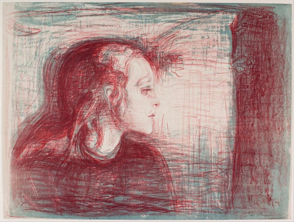 Edvard Munch Hasta Çocuk I, Kanvas Tablo, Edvard Munch, kanvas tablo, canvas print sales