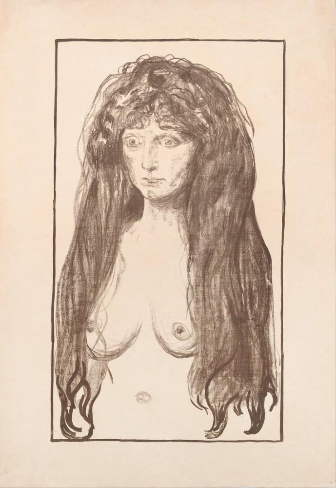 Edvard Munch Günah, Kanvas Tablo, Edvard Munch, kanvas tablo, canvas print sales
