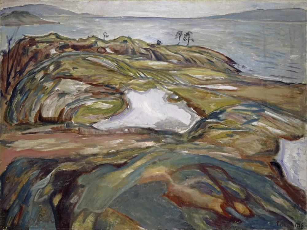 Edvard Munch Coastal Landscape, Canvas, Edvard Munch, kanvas tablo, canvas print sales